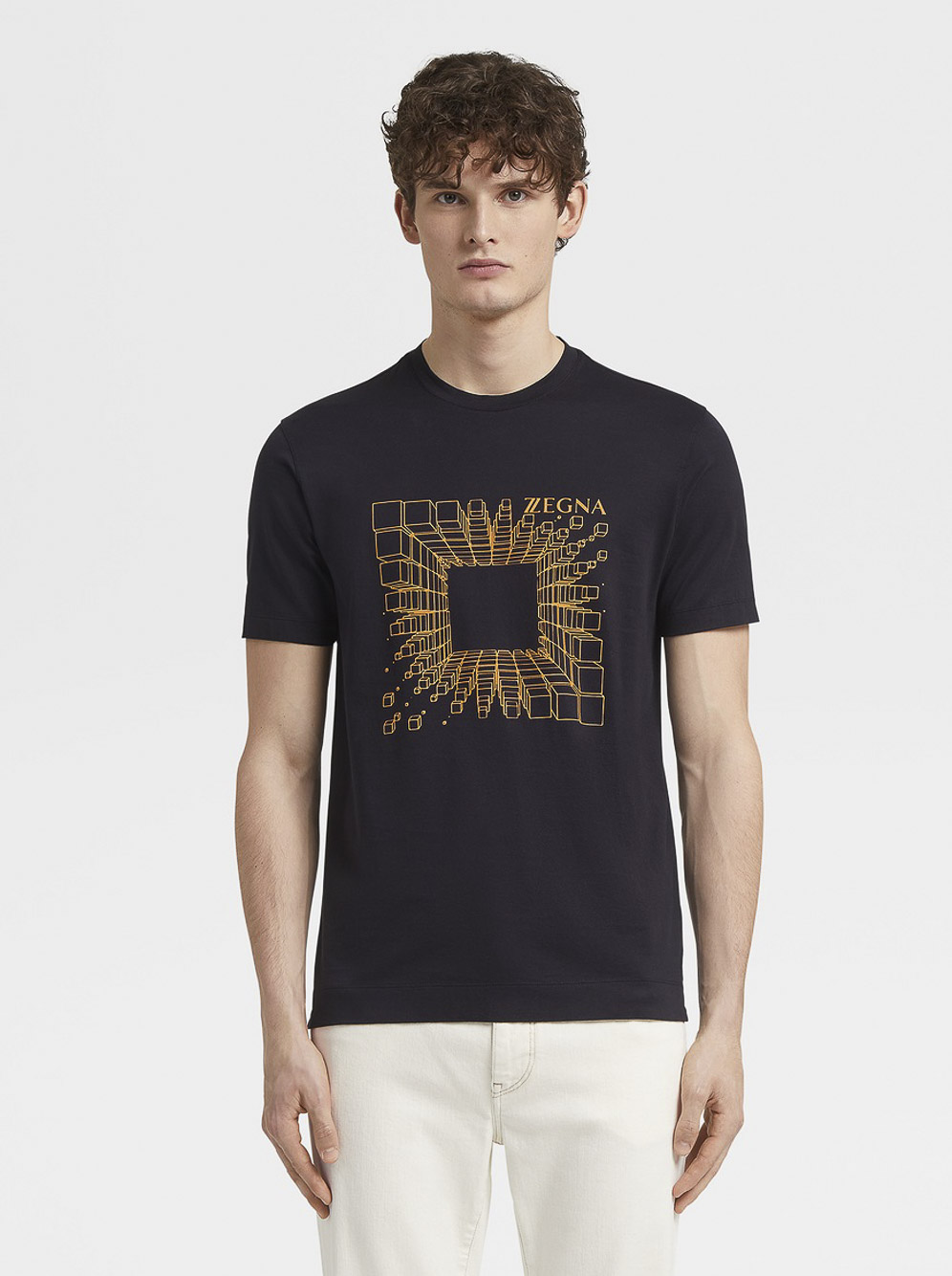 ZEGNA Μπλούζα Τ-shirt ZZ630R-6R3 ΜΠΛΕ