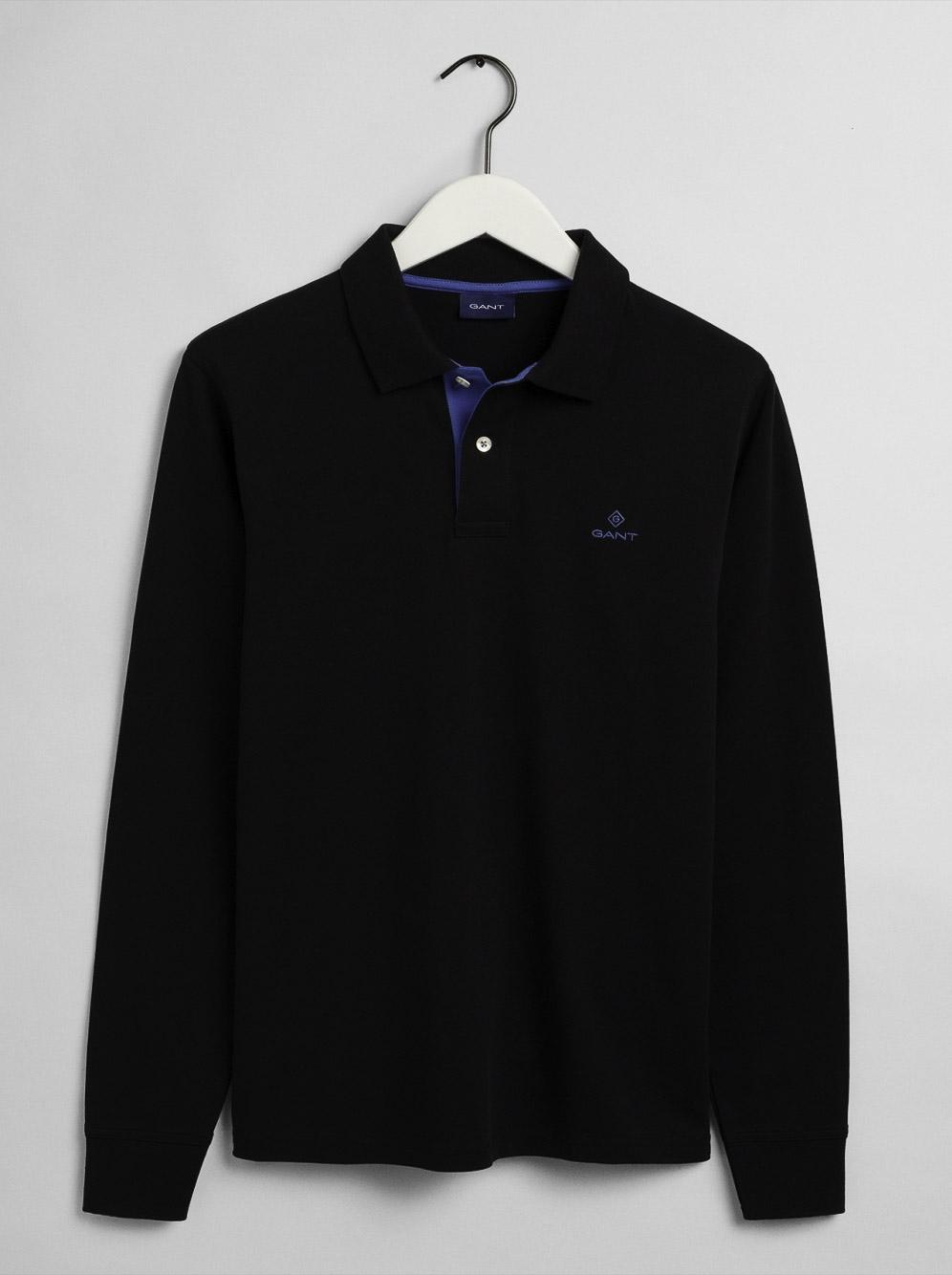 GANT Μπλούζα Polo 3G2055003-5 ΜΑΥΡΟ