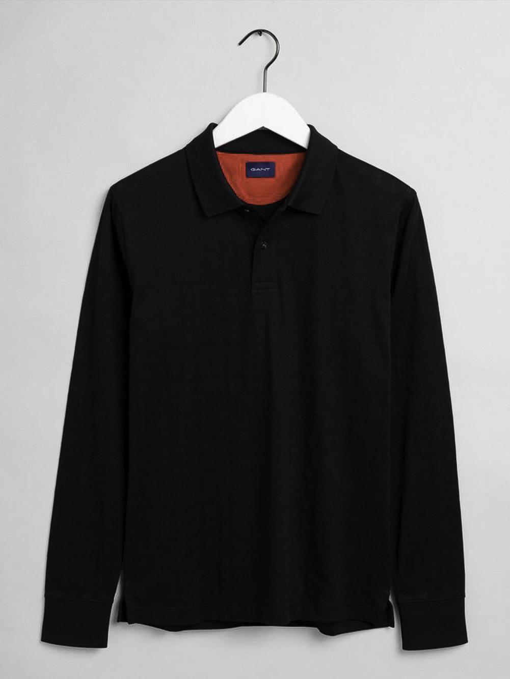 GANT Μπλούζα Polo 3G2015036-5 ΜΑΥΡΟ