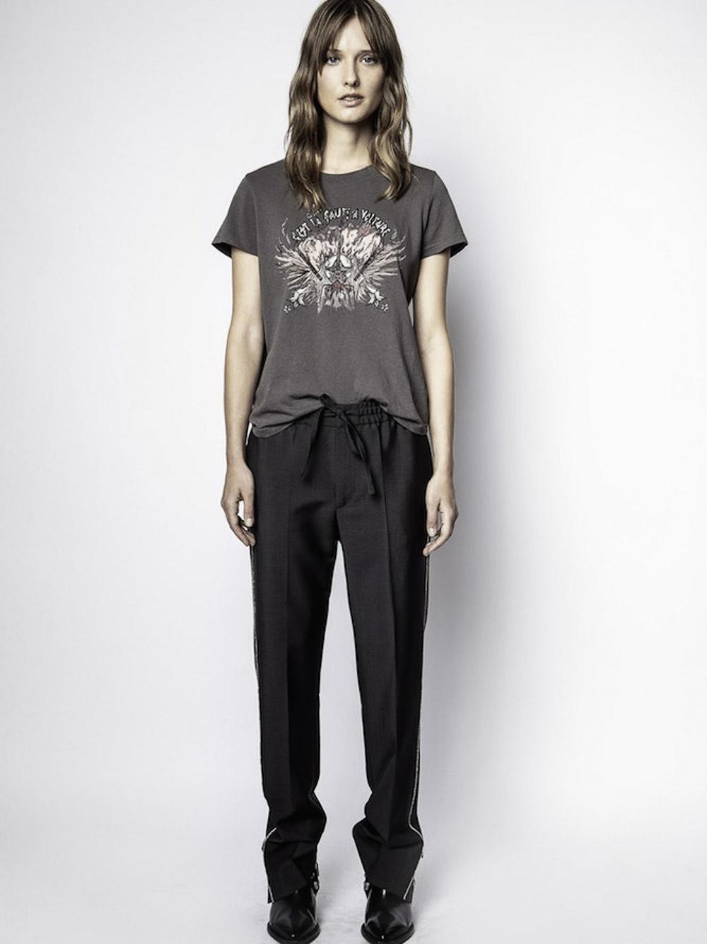 ZADIG & VOLTAIRE Μπλούζα T-Shirt WJTI1801F ΓΚΡΙ