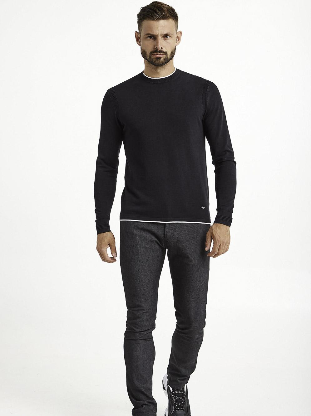 EMPORIO ARMANI Μπλούζα πουλόβερ 6H1MX2 1MIQZ-0920 ΜΠΛΕ