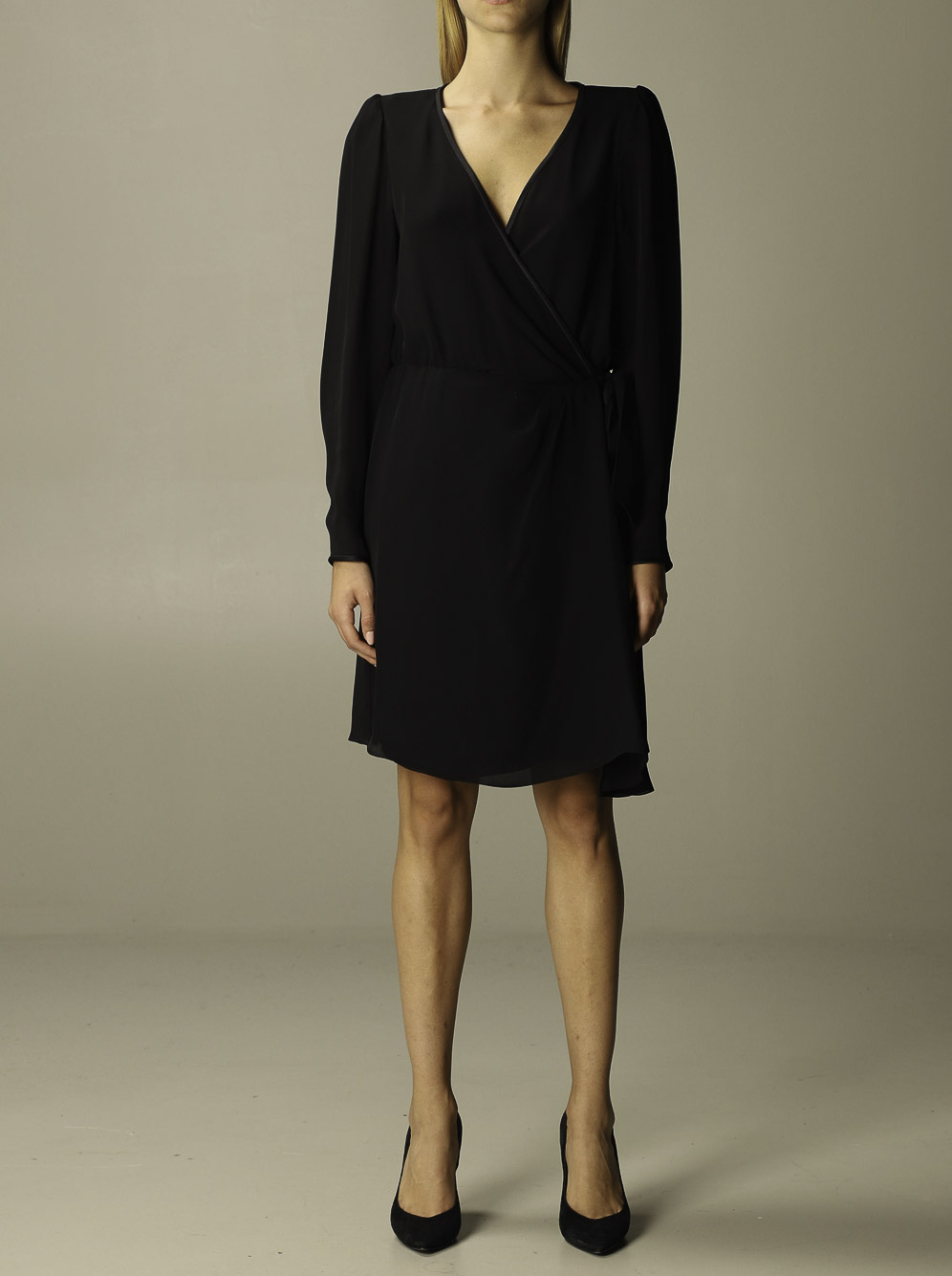 EMPORIO ARMANI Φόρεμα midi 9NA11T 92306-0999 ΜΑΥΡΟ
