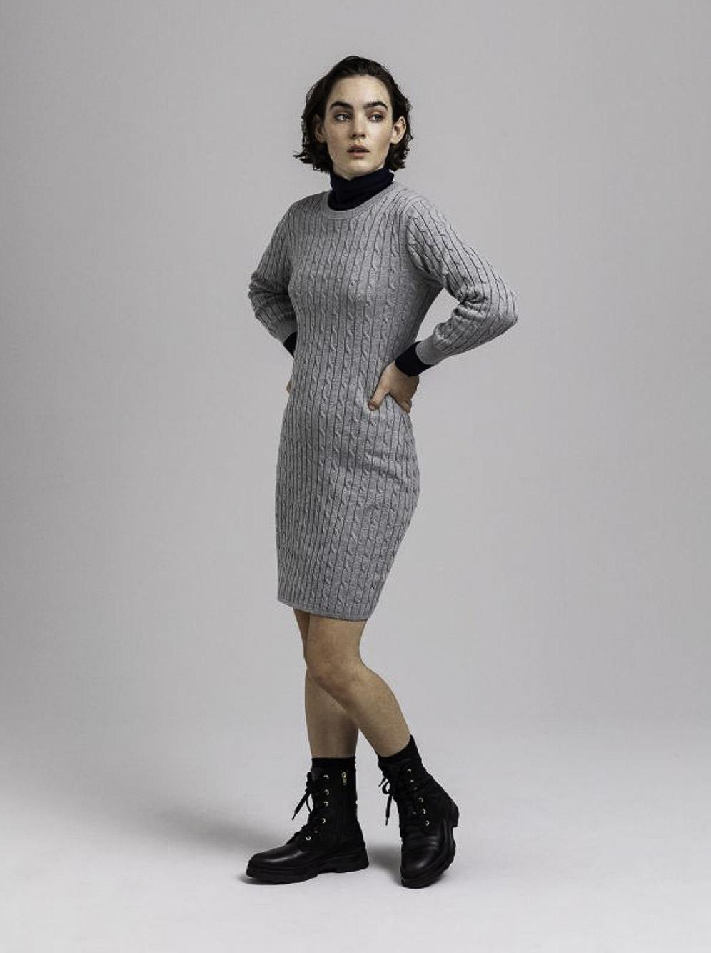 GANT Φόρεμα πλεκτό 3GW450942-93 ΓΚΡΙ