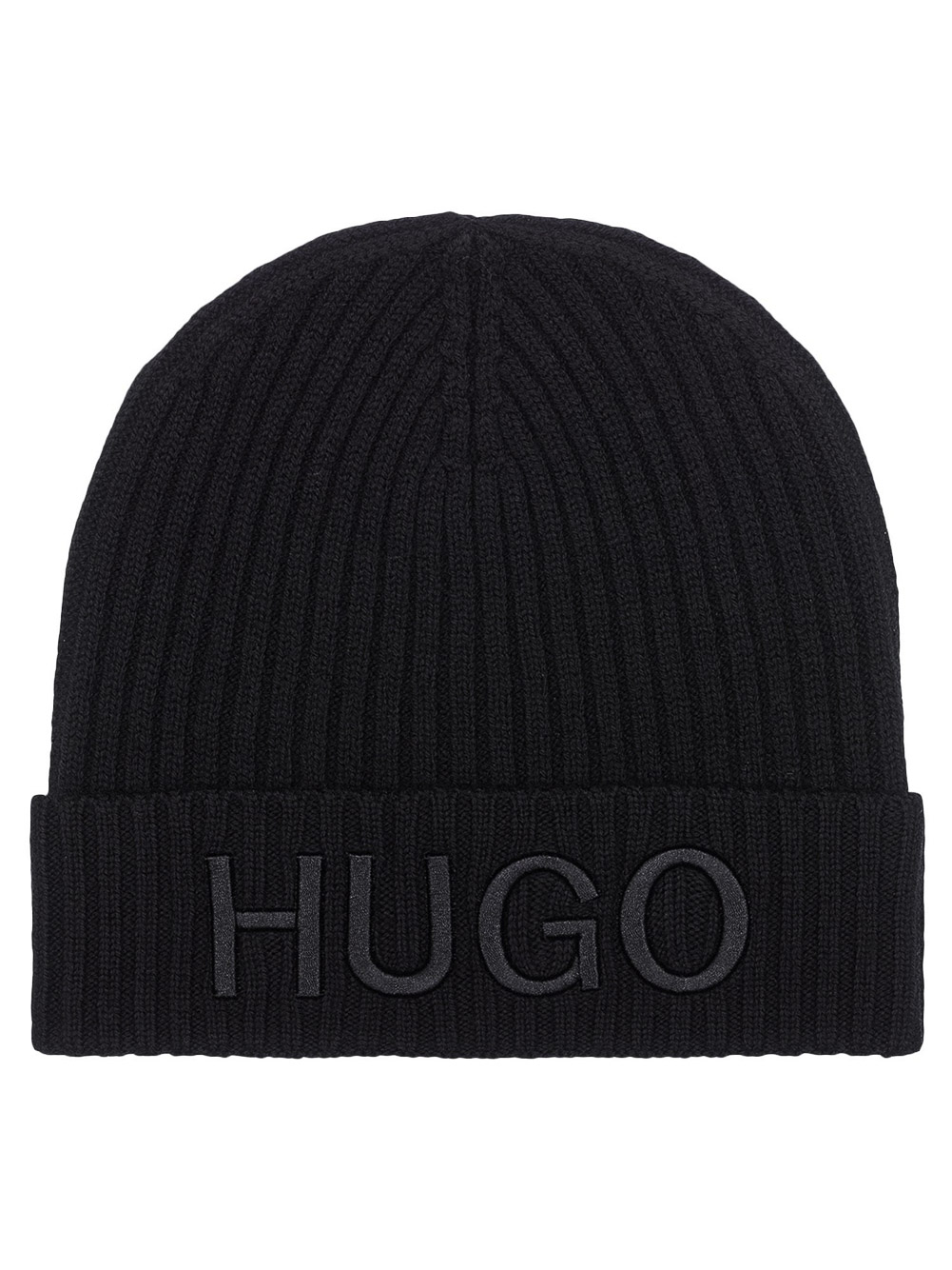 HUGO Σκούφος ανδρικός 50438407-001 ΜΑΥΡΟ