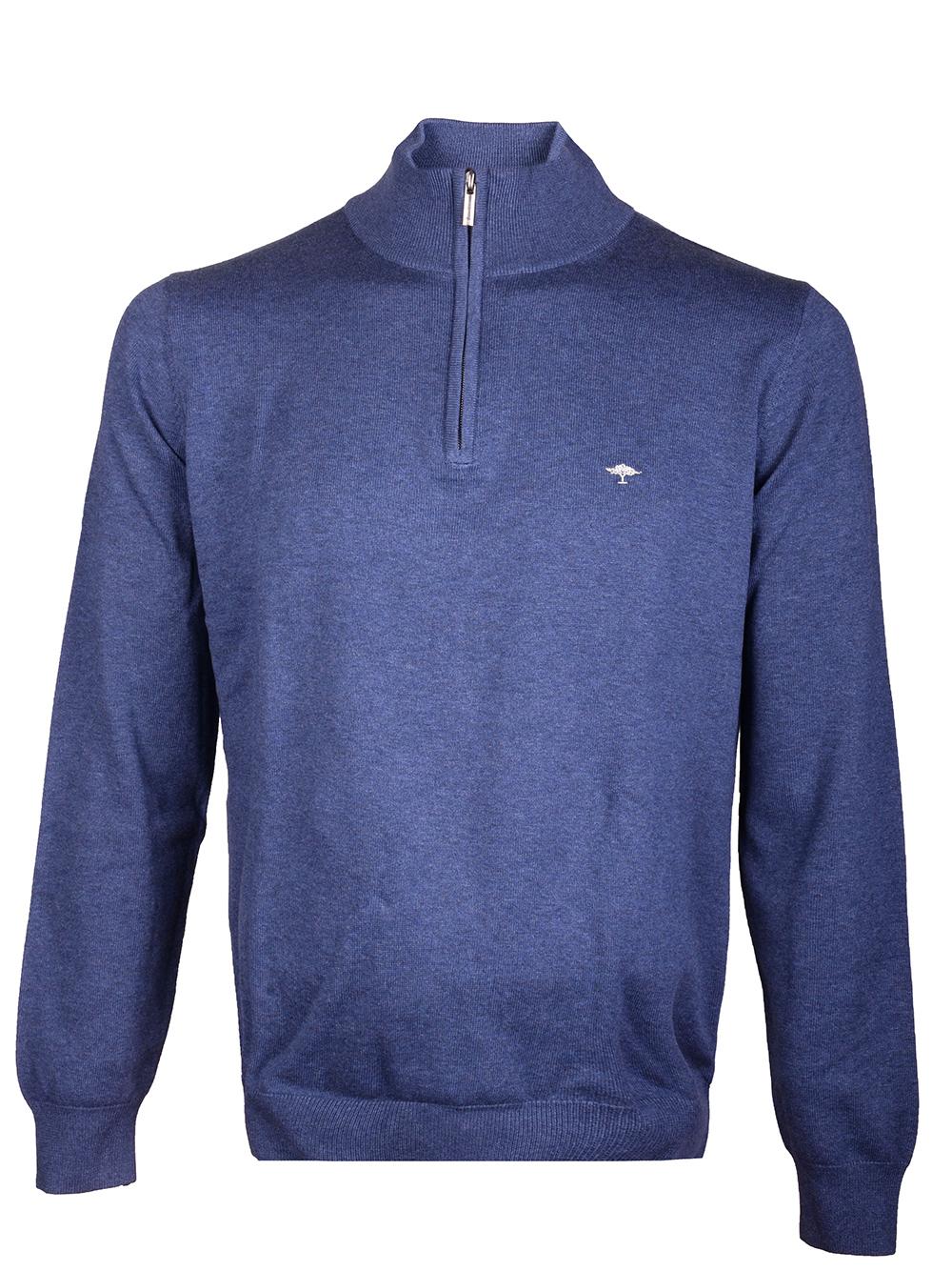 FYNCH-HATTON Μπλούζα zip-neck 1220 216-680 ΜΠΛΕ