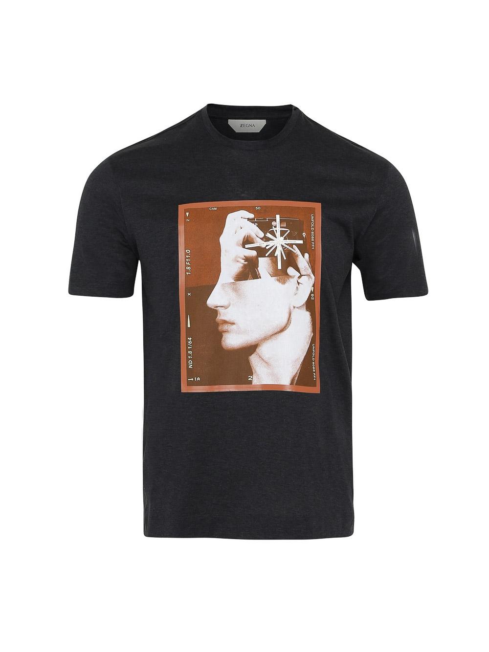 ZEGNA Μπλούζα T-Shirt VV375 ZZ6502-620 ΓΚΡΙ