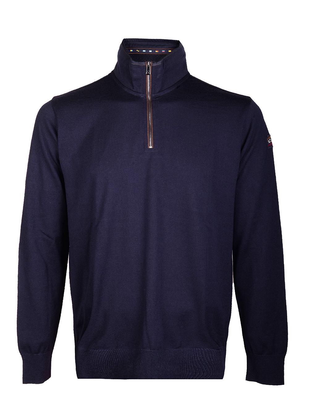 PAUL & SHARK Μπλούζα zip-neck I20P1108-050 ΜΠΛΕ
