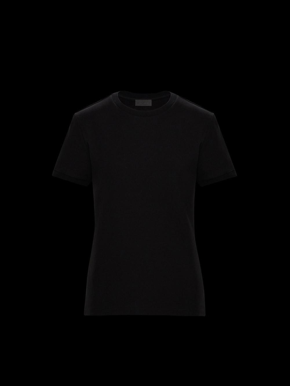 MONCLER Μπλούζα T-shirt 0938C7B010829H8-999 ΜΑΥΡΟ