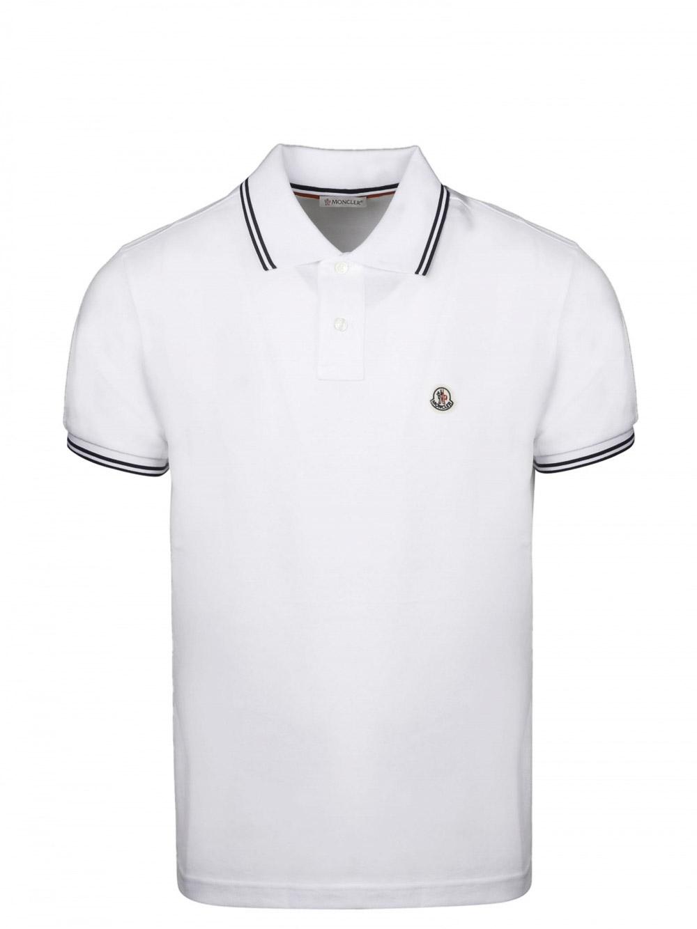MONCLER Μπλούζα Polo 0918A7060084556-001 ΛΕΥΚΟ