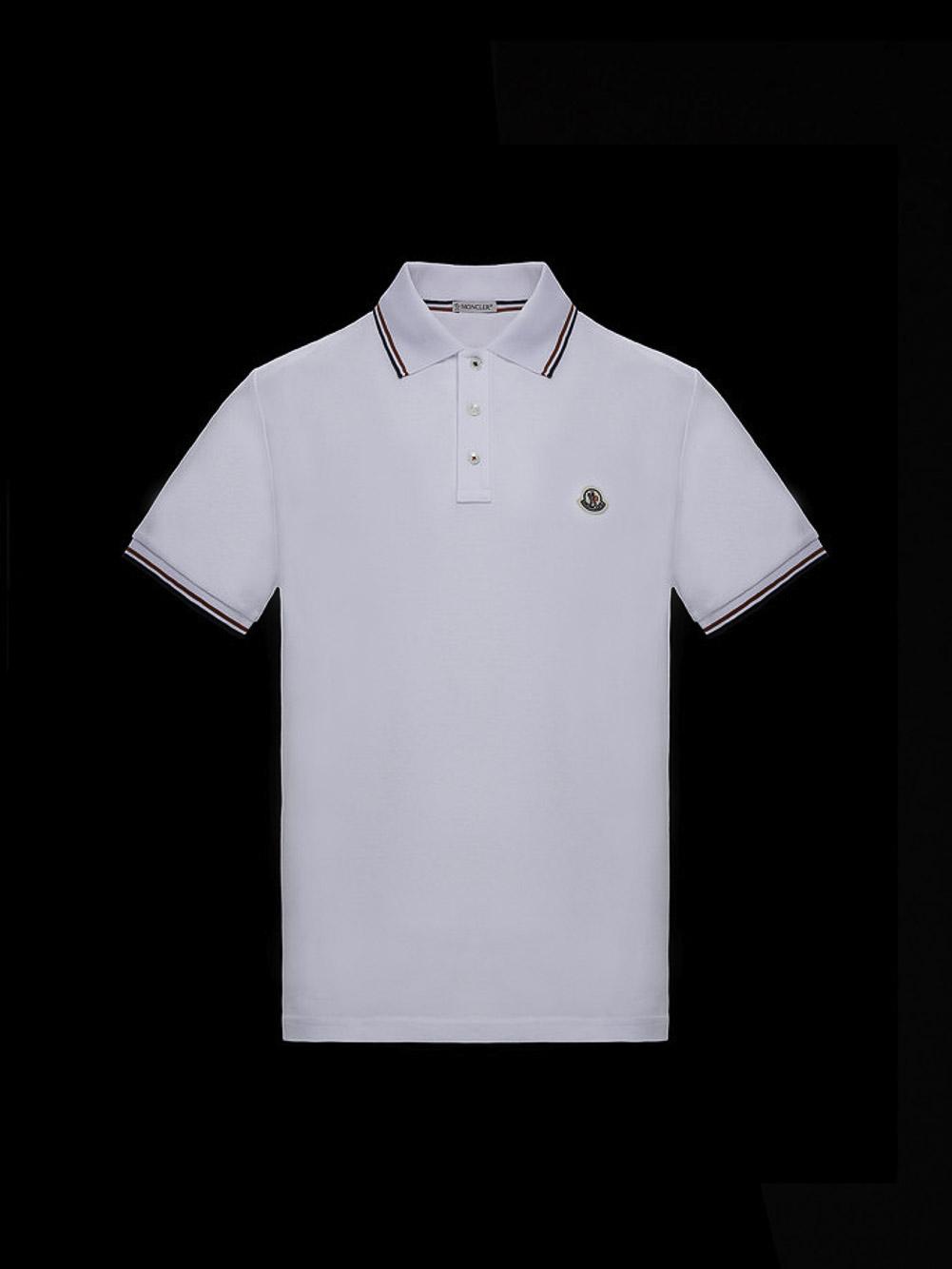 MONCLER Μπλούζα Polo 0918A7030084556-001 ΛΕΥΚΟ