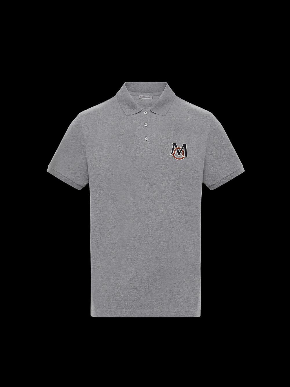 MONCLER Μπλούζα Polo 0918A7290084556-984 ΓΚΡΙ