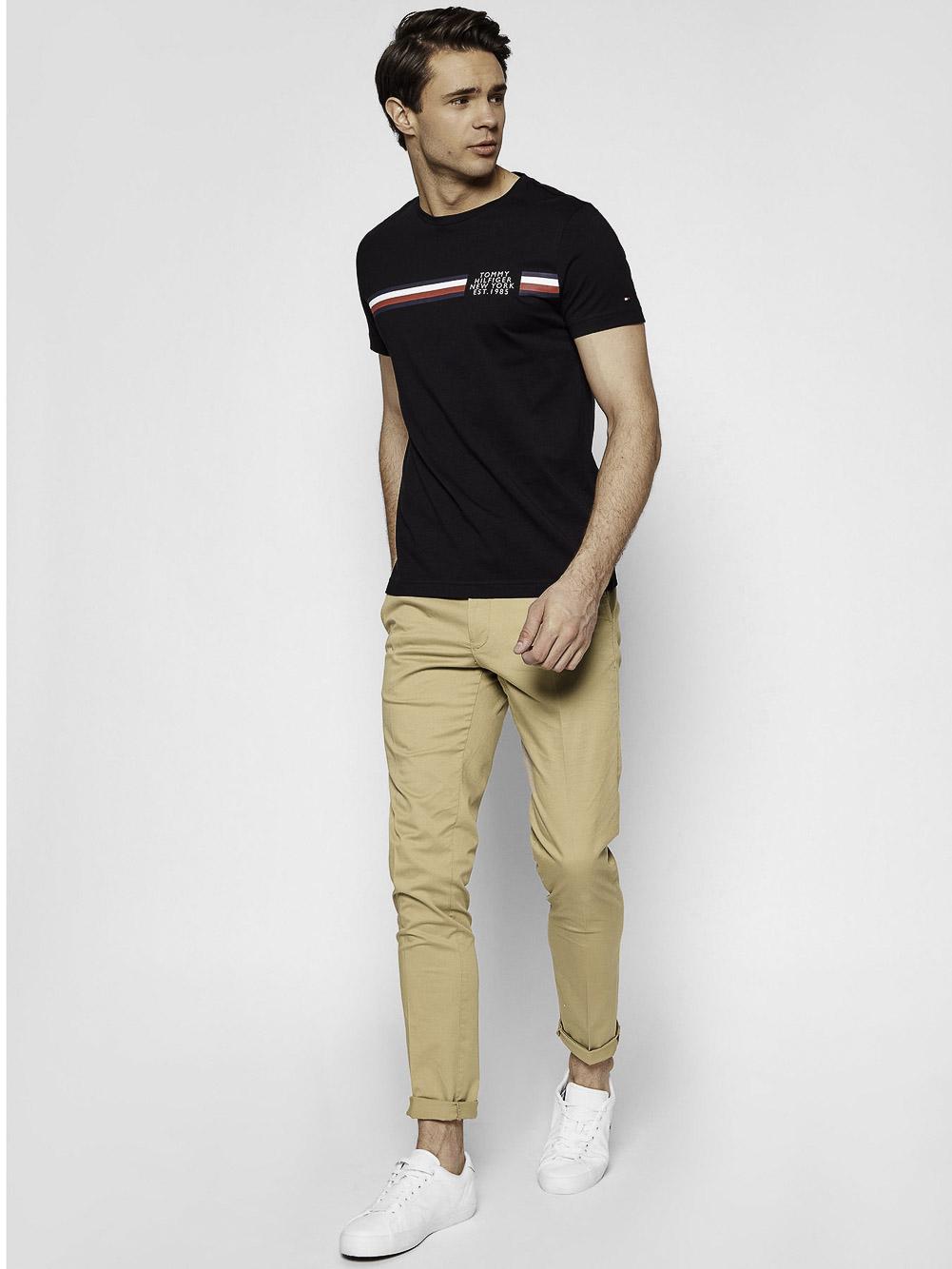 TOMMY HILFIGER Μπλούζα t-shirt MW0MW16592 ΜΑΥΡΟ