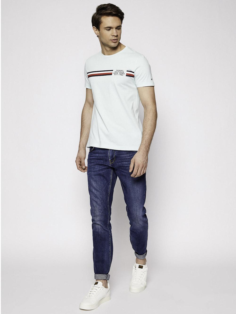TOMMY HILFIGER Μπλούζα t-shirt MW0MW16592-L4T ΤΥΡΚΟΥΑΖ