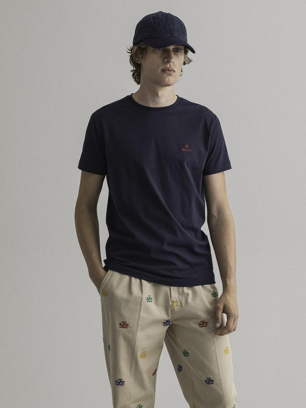 GANT Μπλούζα t-shirt 3G2053004-433 ΣΚΟΥΡΟ ΜΠΛΕ