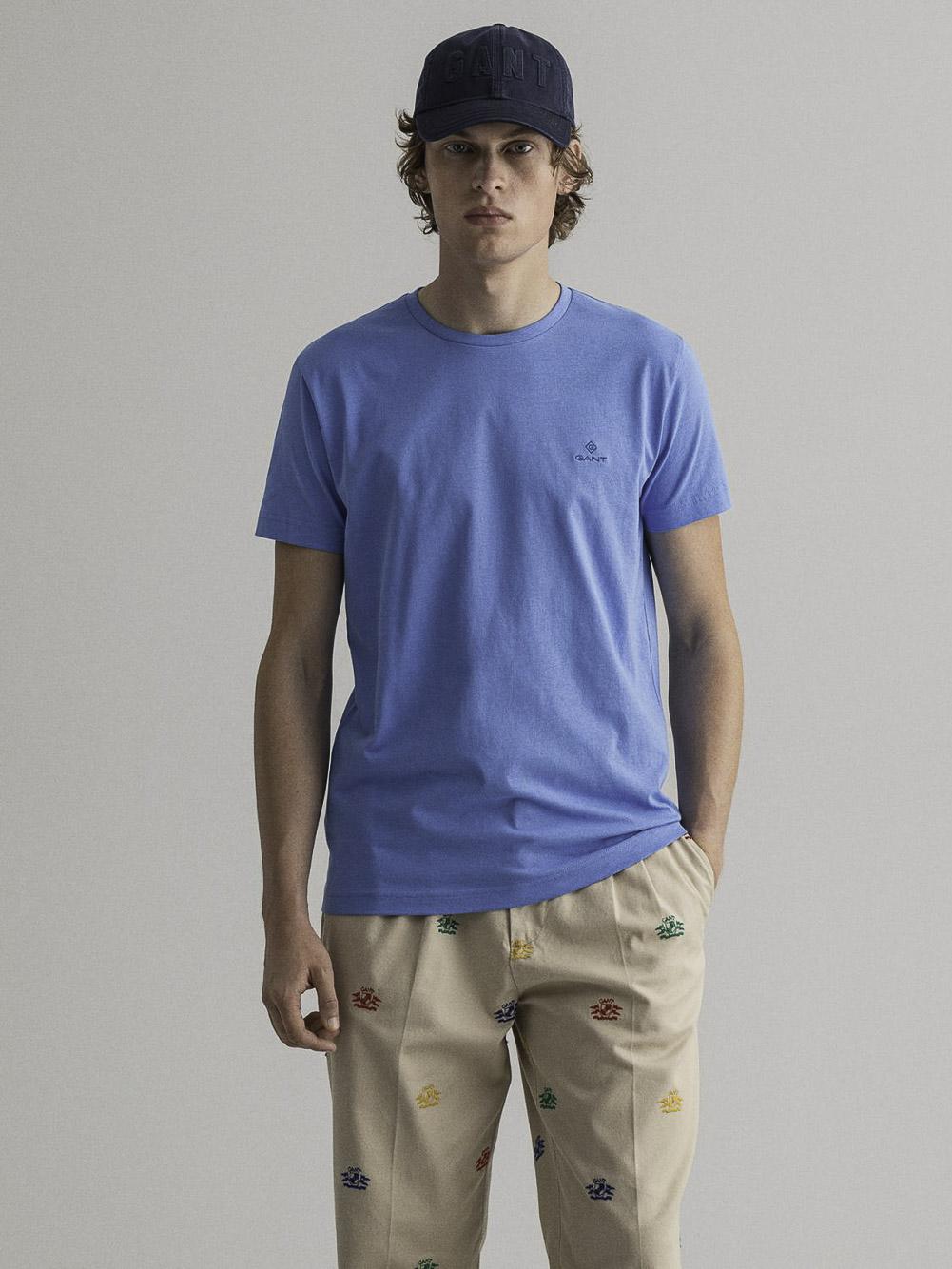 GANT Μπλούζα t-shirt 3G2053004-445 ΚΑΑΡΩ ΓΑΛΑΖΙΟ
