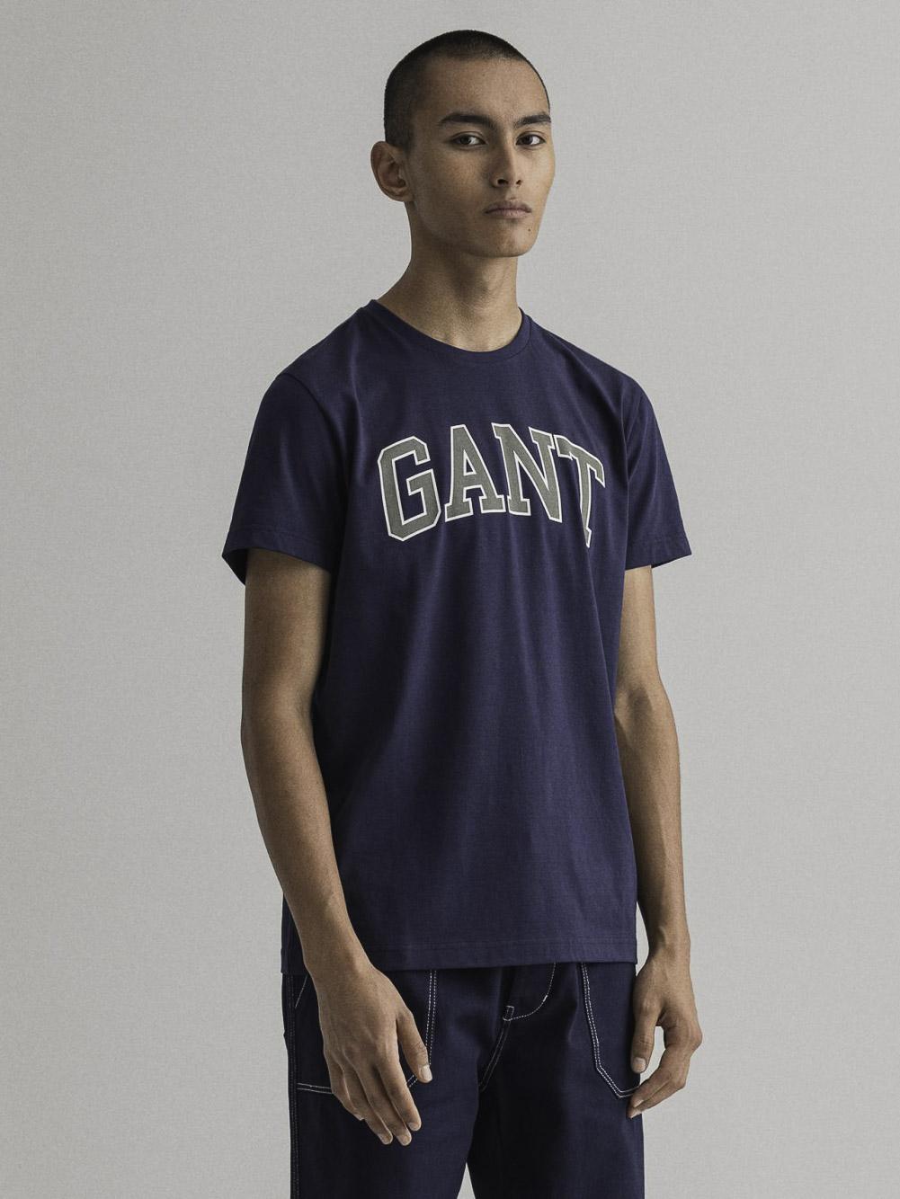 GANT Μπλούζα t-shirt 3G2003007-433 ΣΚΟΥΡΟ ΜΠΛΕ