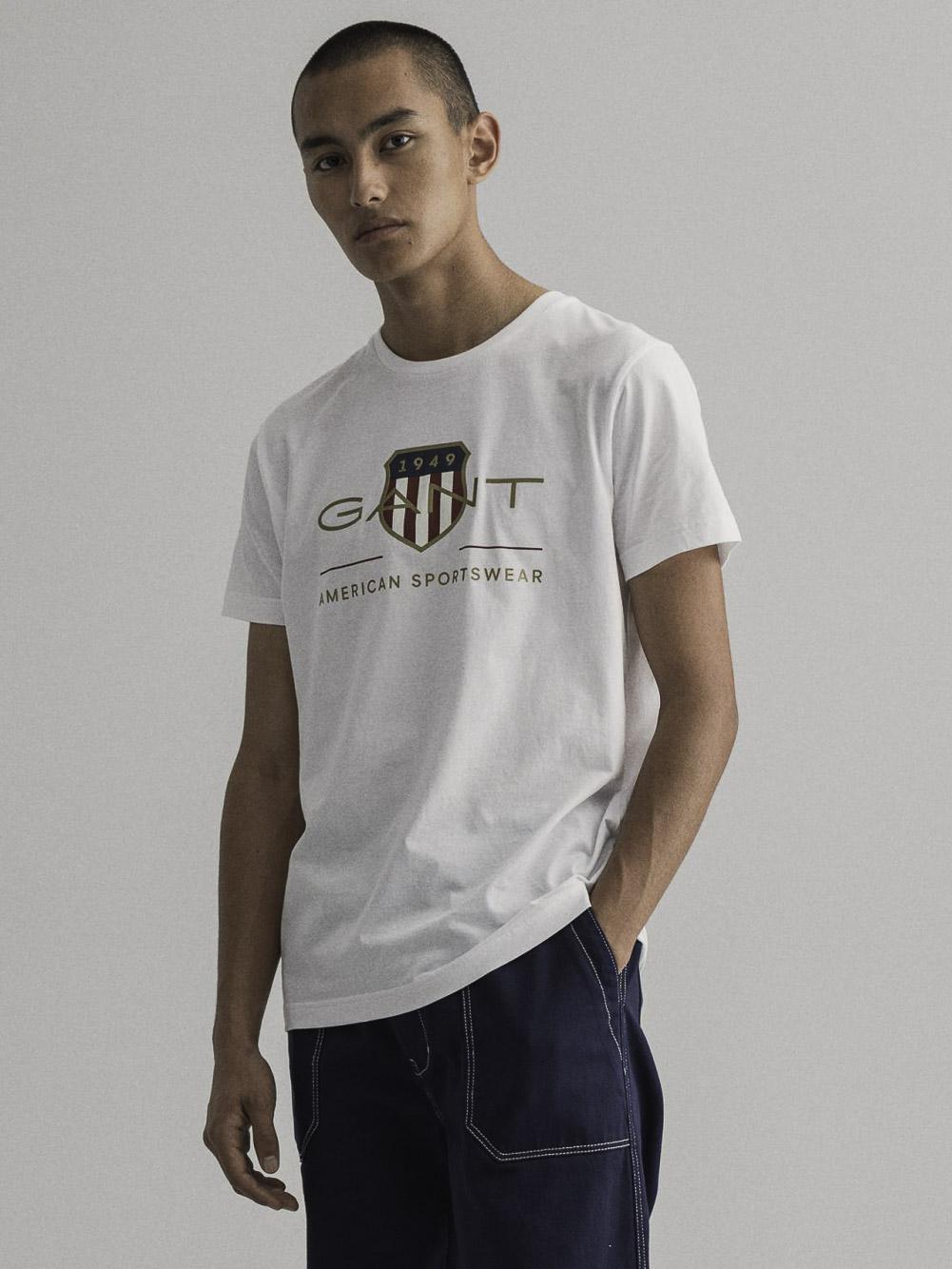 GANT Μπλούζα t-shirt 3G2003099-110 ΛΕΥΚΟ