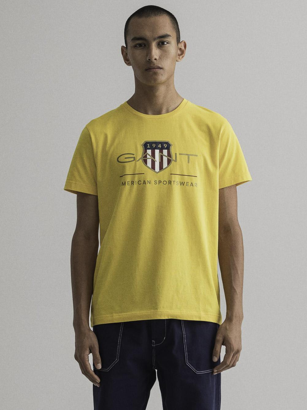 GANT Μπλούζα t-shirt 3G2003099-728 ΚΙΤΡΙΝΟ ΣΚΟΥΡΟ
