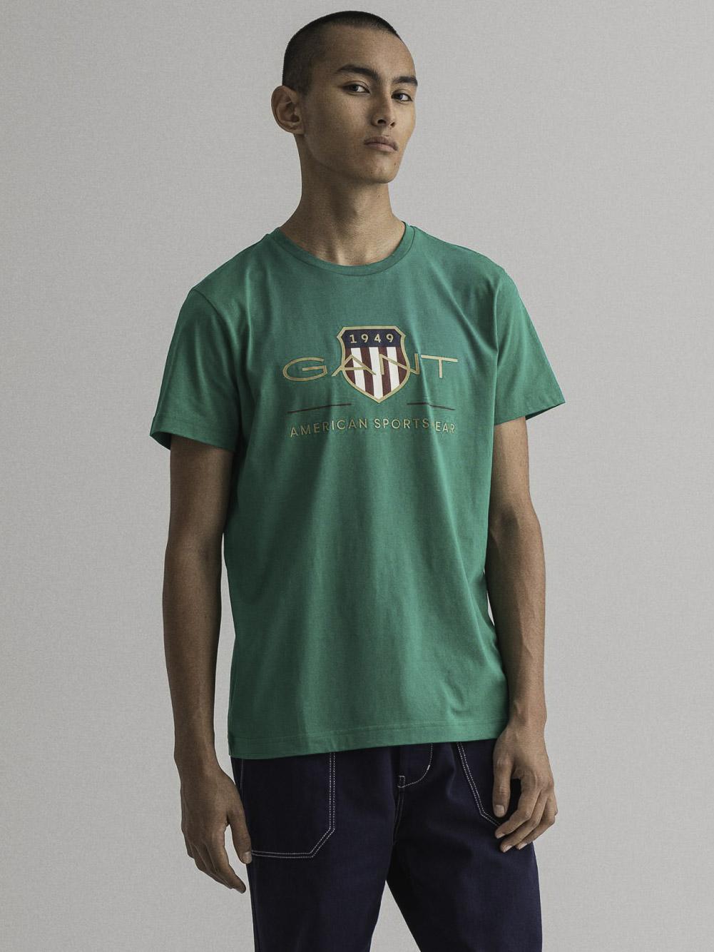 GANT Μπλούζα t-shirt 3G2003099-336 ΣΚΟΥΡΟ ΠΡΑΣΙΝΟ