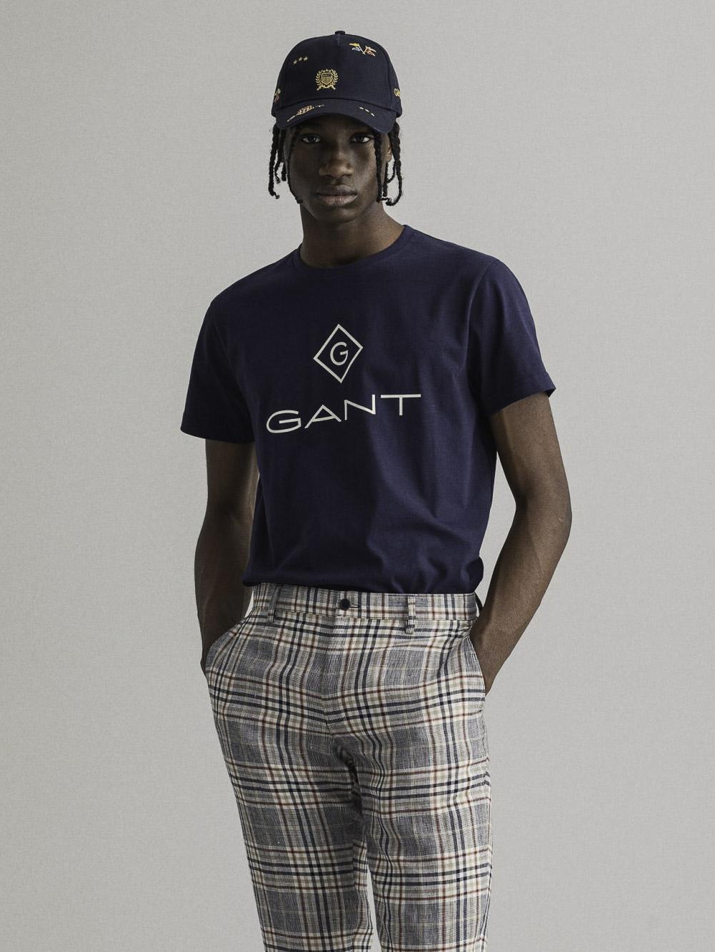 GANT Μπλούζα t-shirt 3G2023000-433 ΣΚΟΥΡΟ ΜΠΛΕ