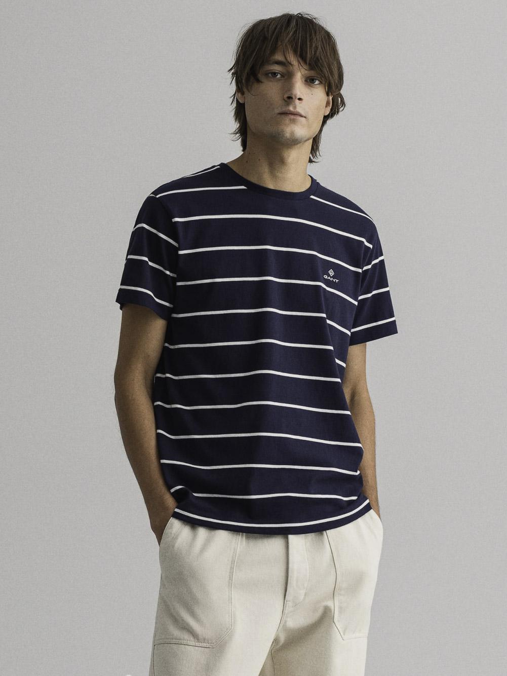 GANT Μπλούζα t-shirt 3G2023001-433 ΣΚΟΥΡΟ ΜΠΛΕ