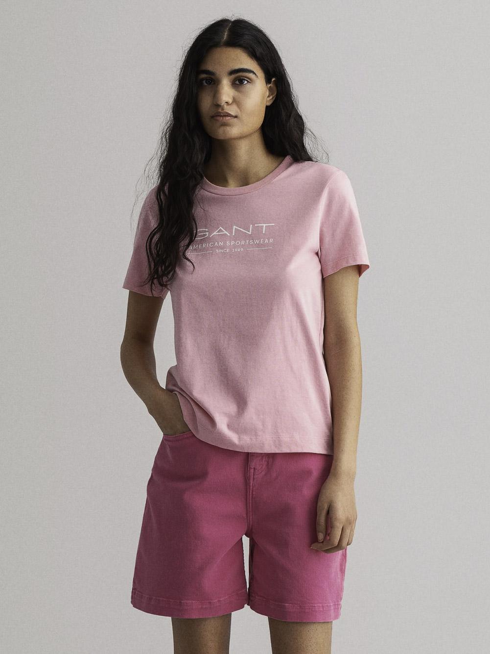 GANT Μπλούζα t-shirt 3GW4200445-667 ΦΟΥΞΙΑ