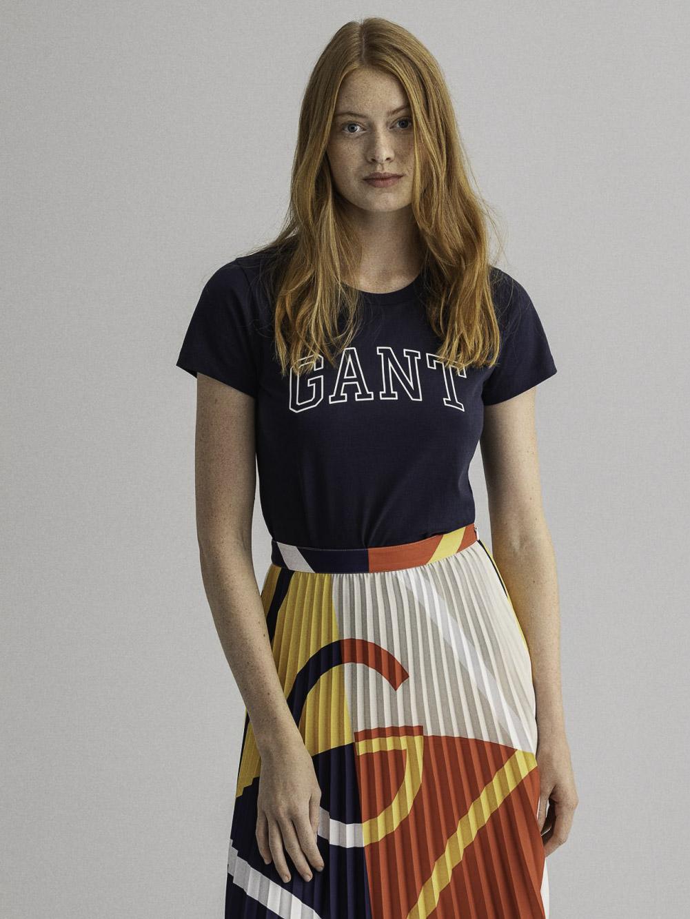 GANT Μπλούζα t-shirt 3GW4200409-433 ΣΚΟΥΡΟ ΜΠΛΕ