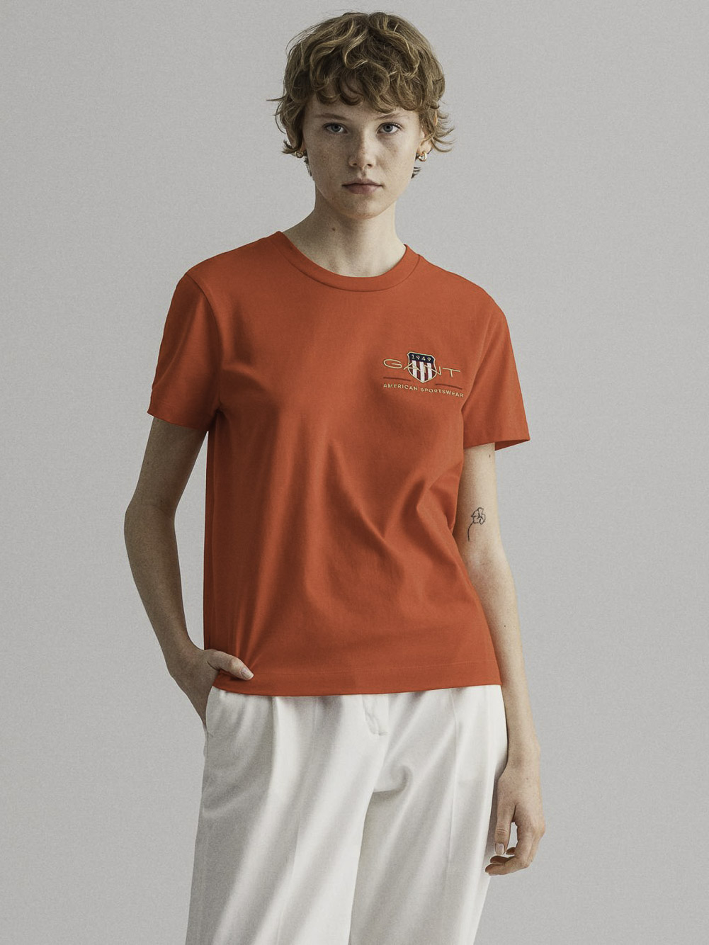 GANT Μπλούζα t-shirt 3GW4200417-667 ΦΟΥΞΙΑ