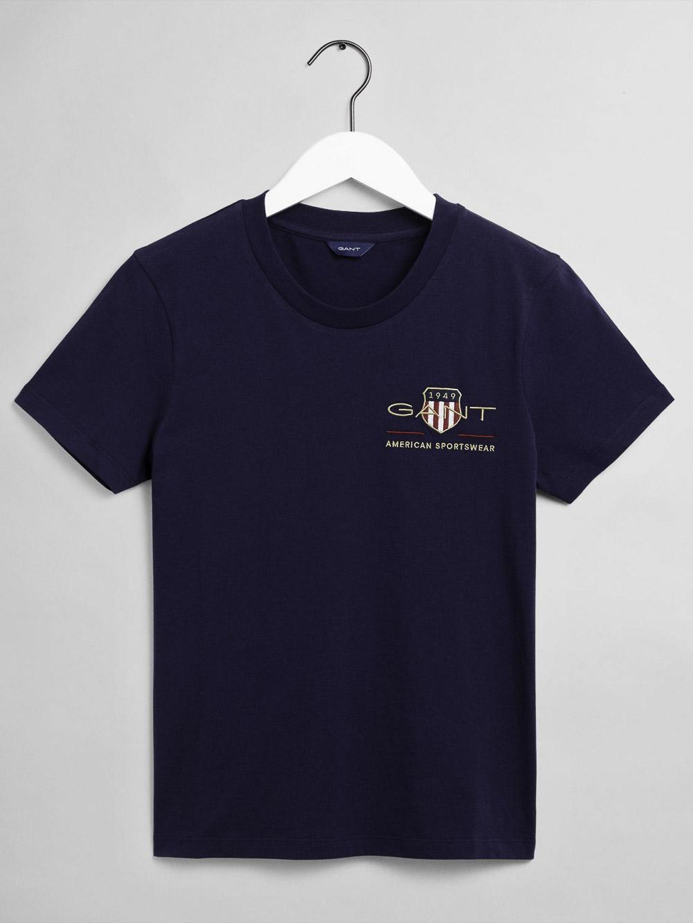 GANT Μπλούζα t-shirt 3GW4200417-433 ΣΚΟΥΡΟ ΜΠΛΕ