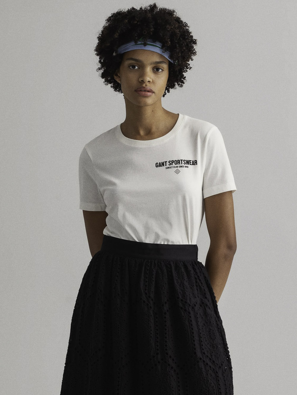 GANT Μλπούζα t-shirt 3GW4200444-106 ΕΚΡΟΥ