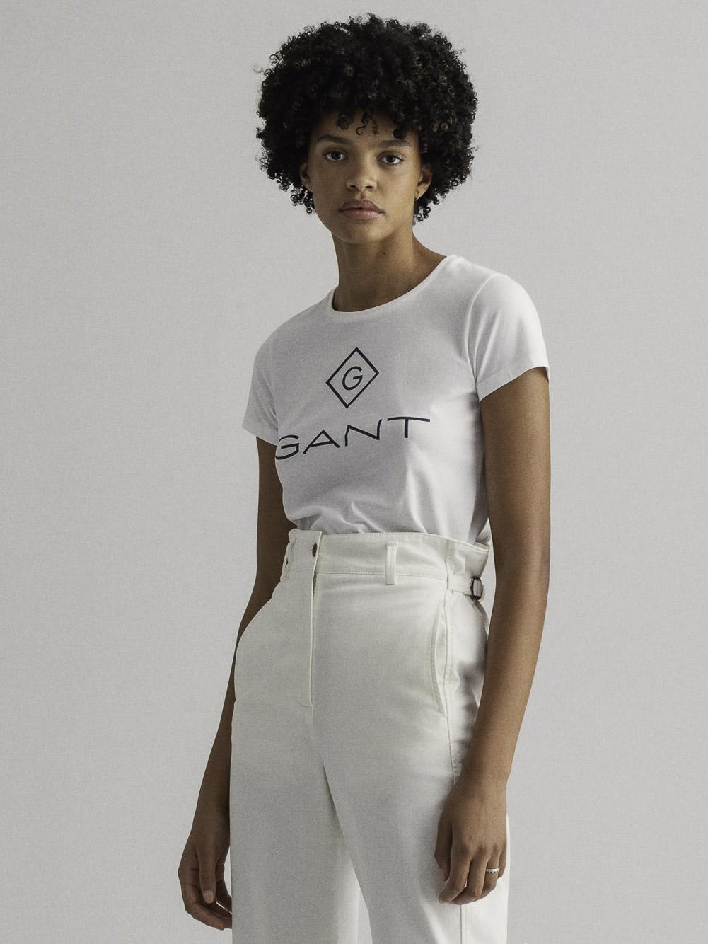 GANT Mπλούζα t-shirt 3GW4200396-110 ΛΕΥΚΟ