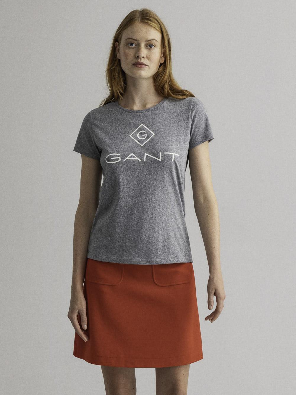 GANT Mπλούζα t-shirt 3GW4200396-93 ΓΚΡΙ