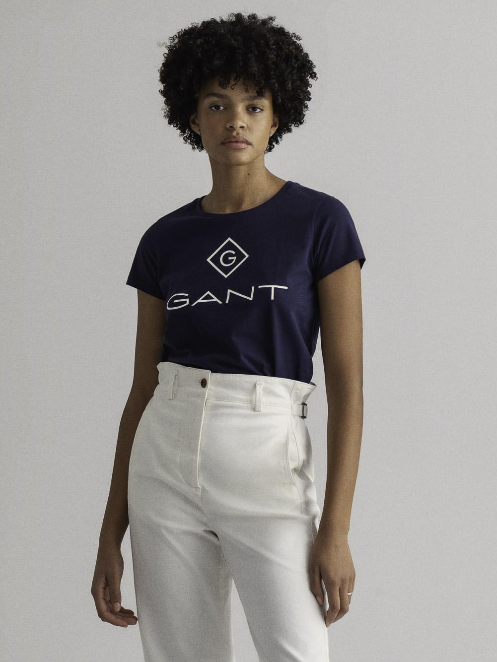 GANT Mπλούζα t-shirt 3GW4200396-433 ΣΚΟΥΡΟ ΜΠΛΕ