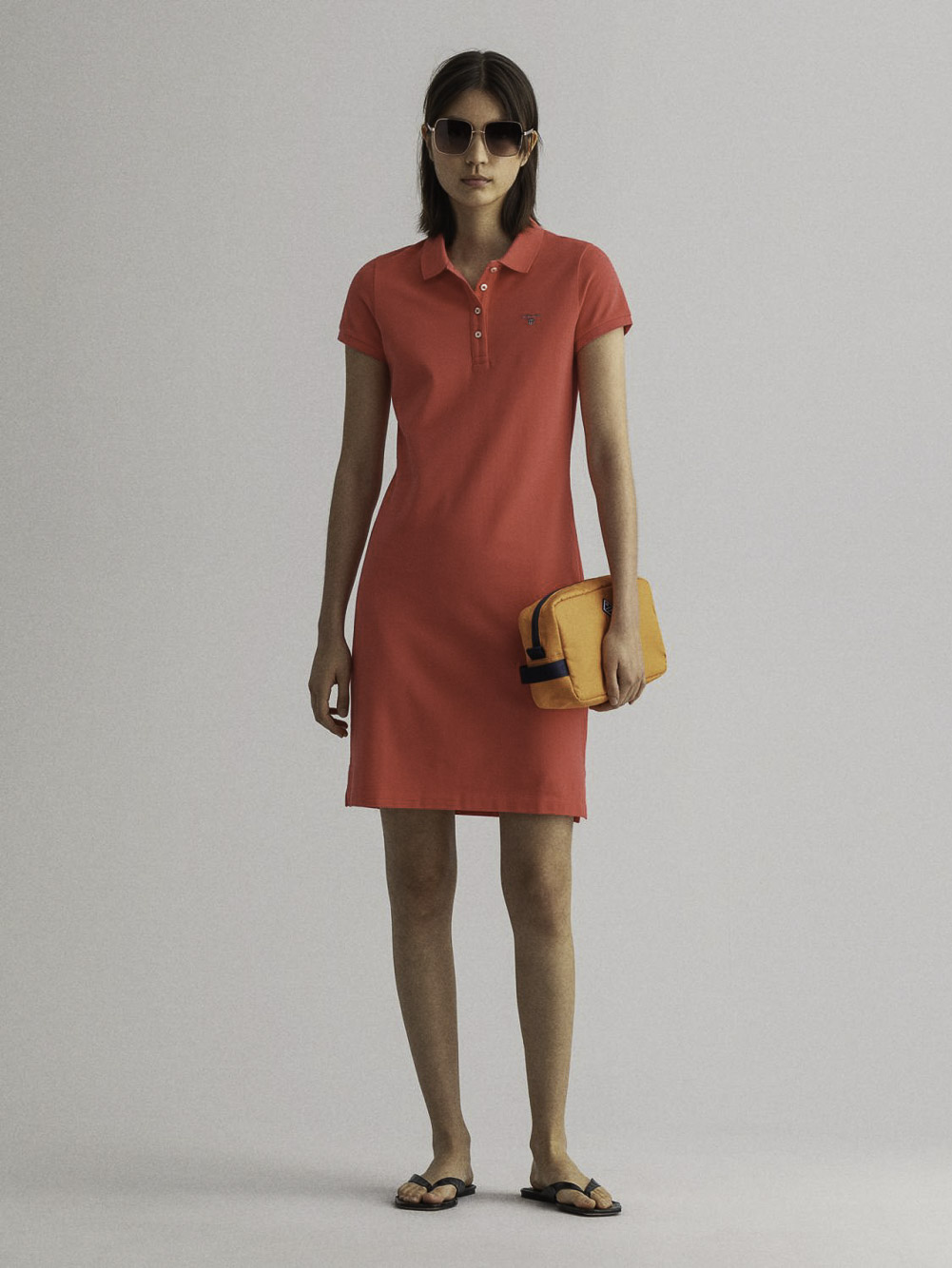 GANT Φόρεμα polo 3GW402300-648 ΚΟΡΑΛΙ