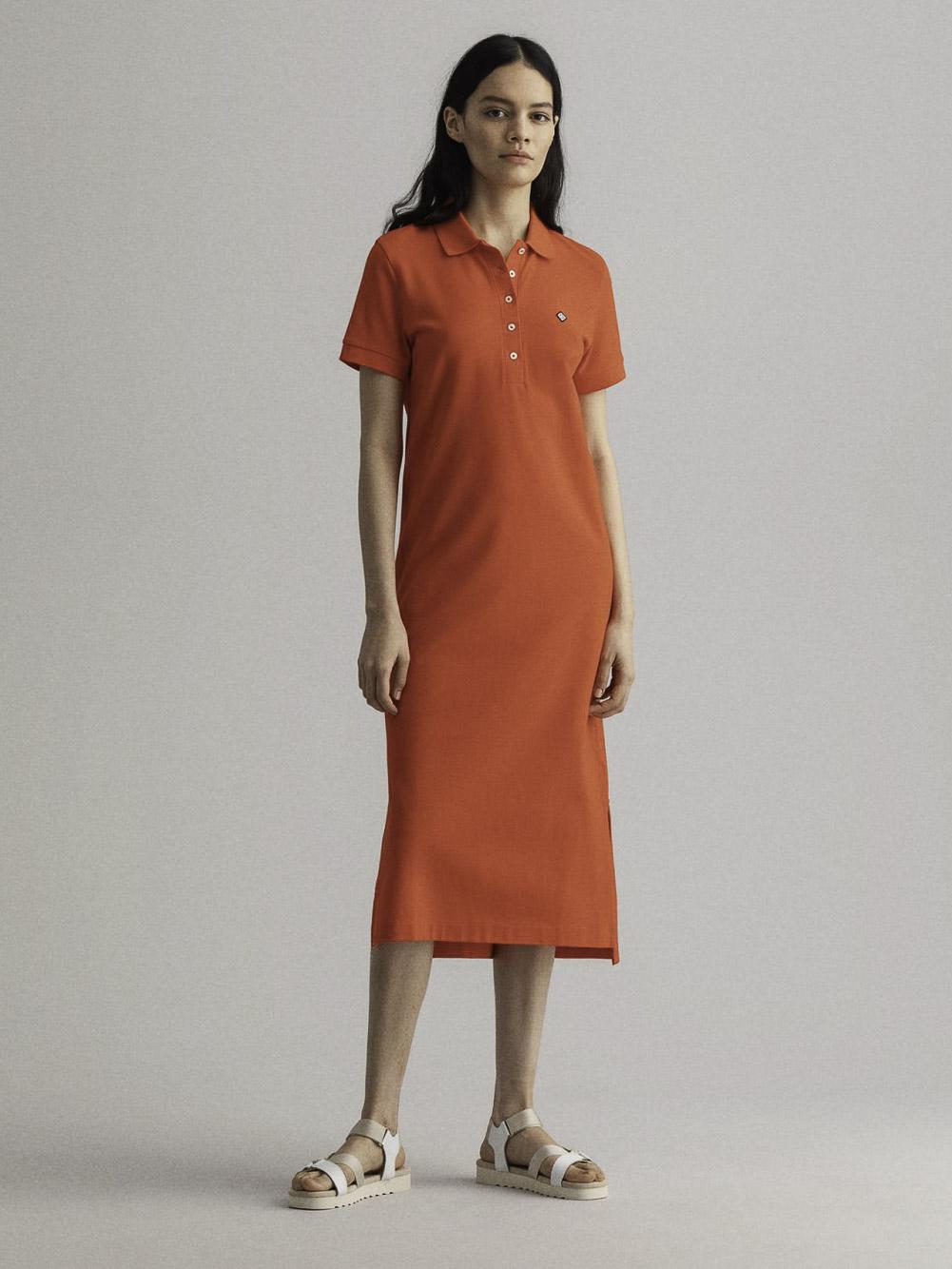 GANT Φόρεμα midi 3GW4202320-667 ΦΟΥΞΙΑ