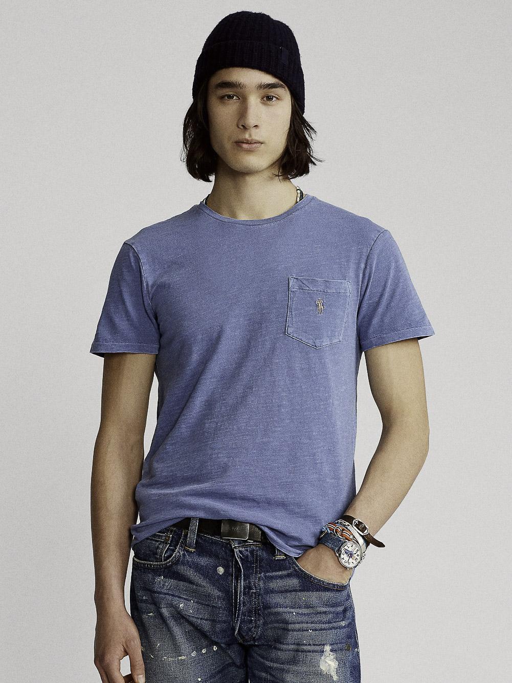 POLO RALPH LAUREN Μπλούζα T-Shirt 710795137012 ΓΑΛΑΖΙΟ