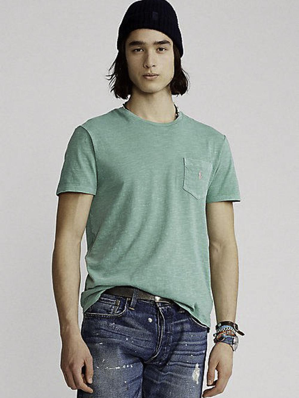 POLO RALPH LAUREN Μπλούζα T-Shirt 710795137014 ΠΡΑΣΙΝΟ