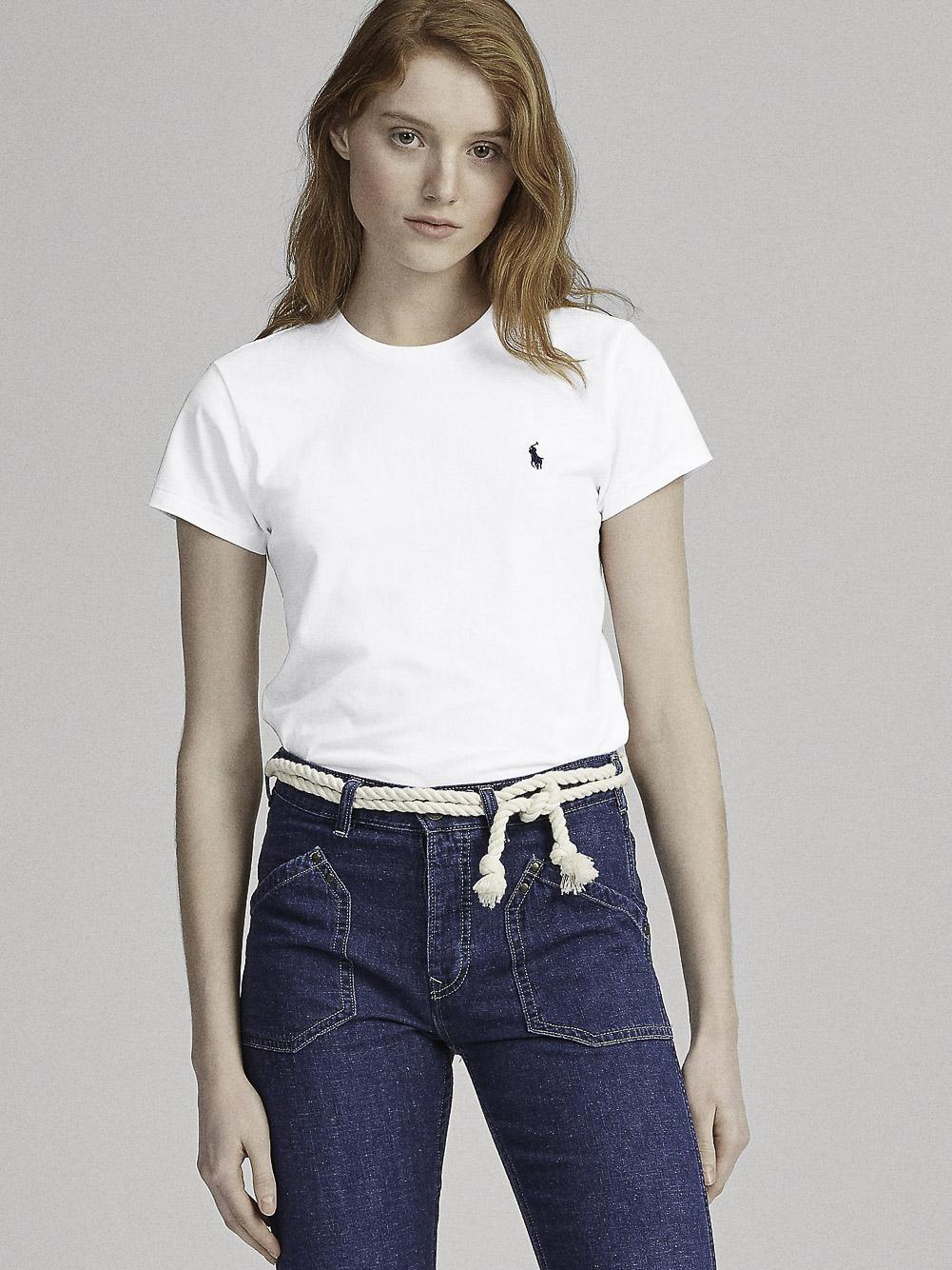 POLO RALPH LAUREN Μπλούζα T-Shirt 211734144001 ΛΕΥΚΟ