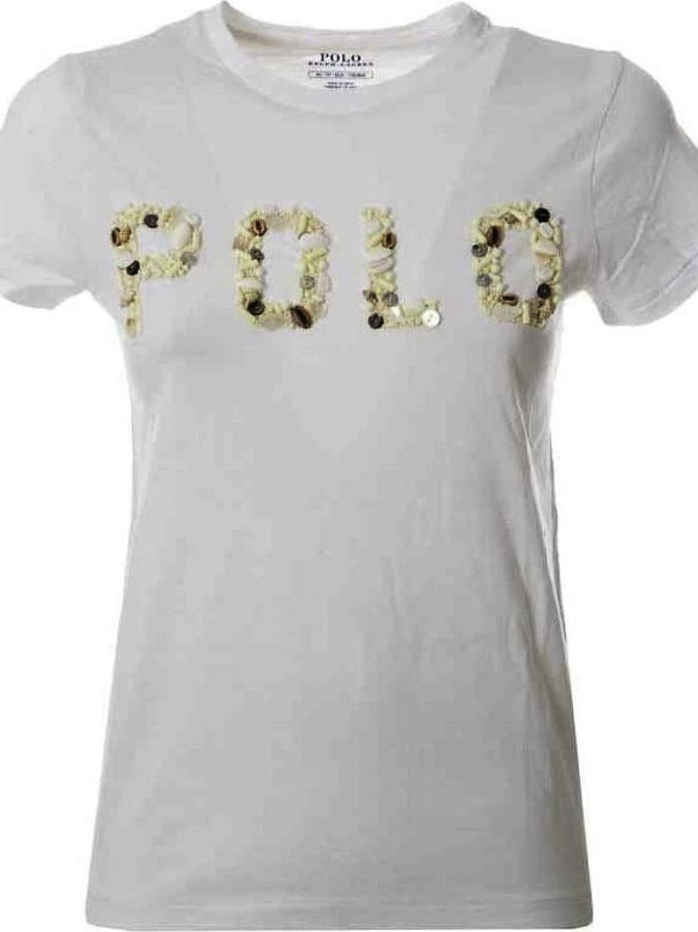 POLO RALPH LAUREN Μπλούζα T-Shirt 211827661001 ΛΕΥΚΟ