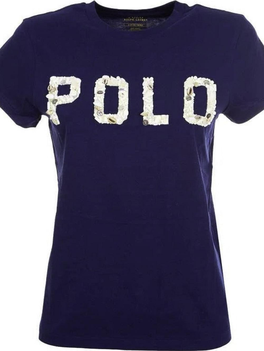 POLO RALPH LAUREN Μπλούζα T-Shirt 211827661002 ΜΠΛΕ