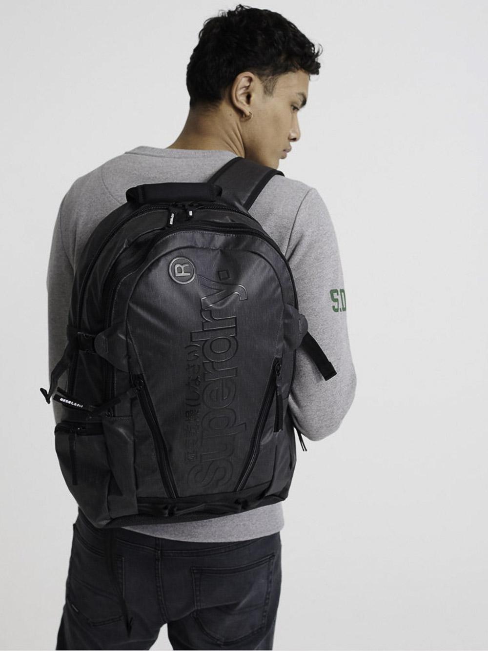 SUPERDRY Τσάντα back pack M9110026A-02A ΜΑΥΡΟ