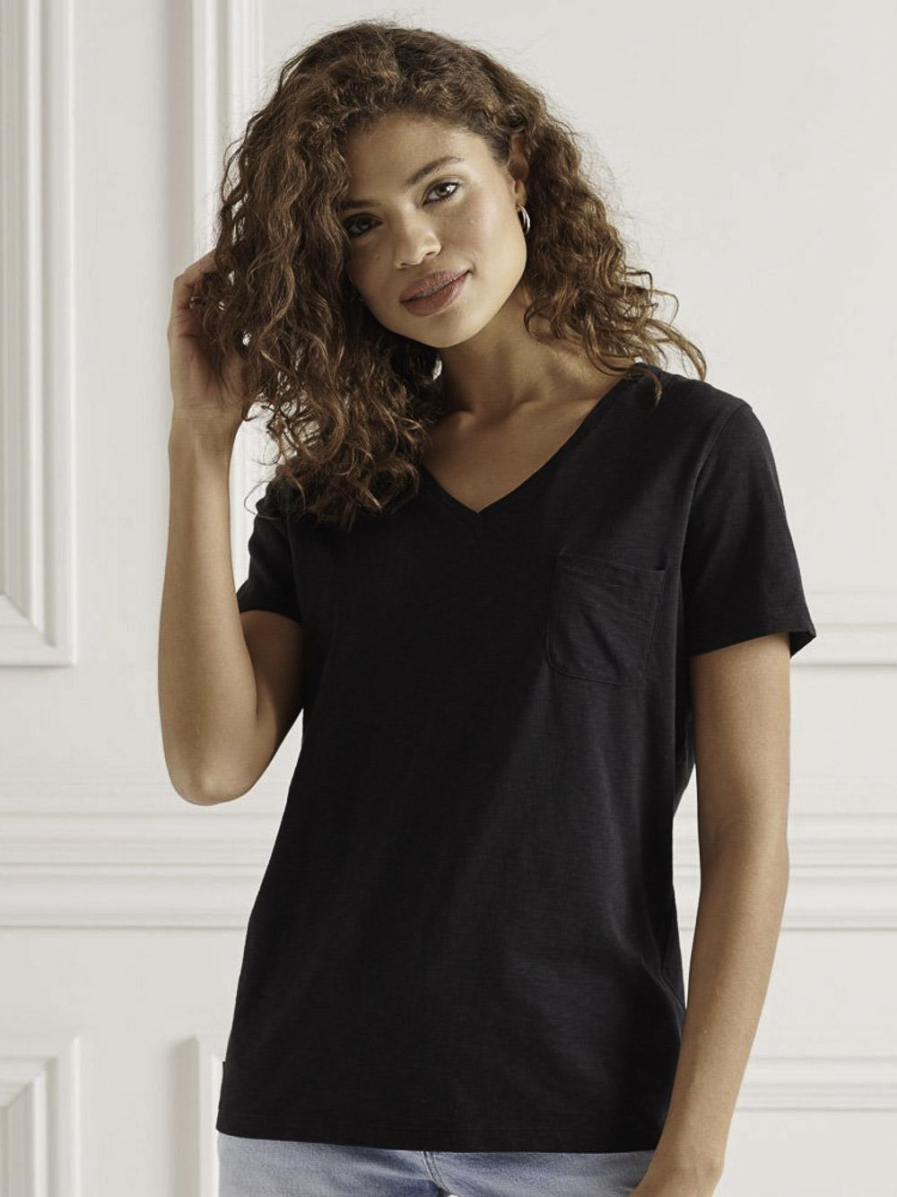 SUPERDRY Μπλούζα t-shirt W1010521A-02A ΜΑΥΡΟ
