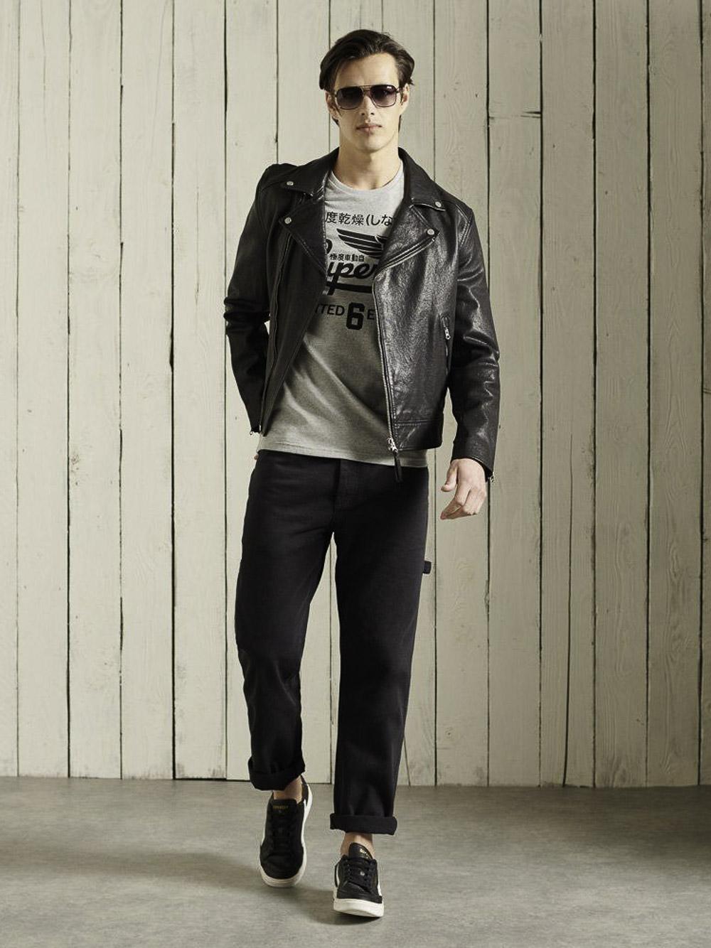 SUPERDRY Μπλούζα t-shirt M1010850A-07Q ΓΚΡΙ ΑΝΟΙΧΤΟ