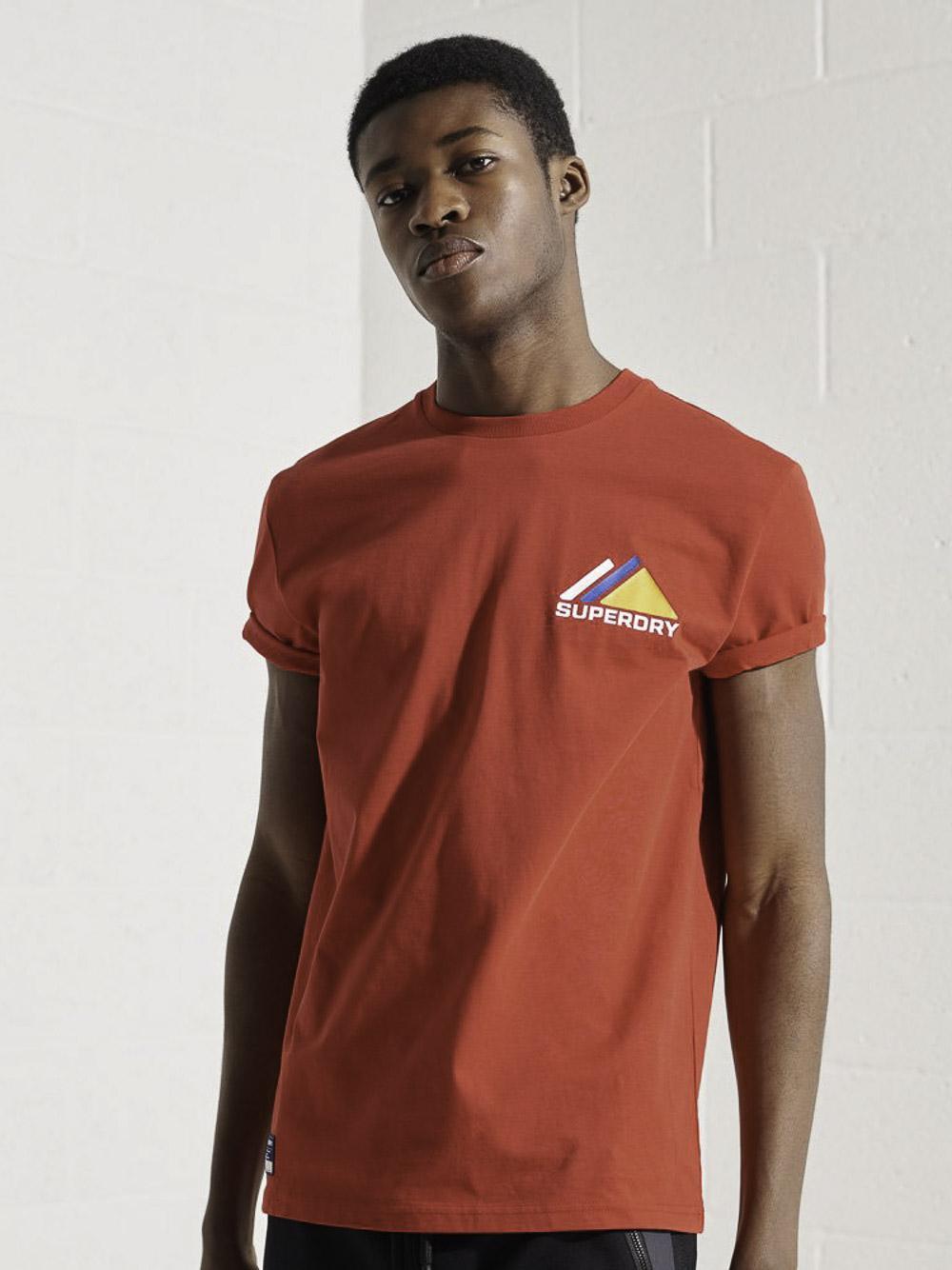 SUPERDRY Μπλούζα t-shirt M1011085A-OPI ΕΝΤΟΝΟ ΚΟΚΚΙΝΟ