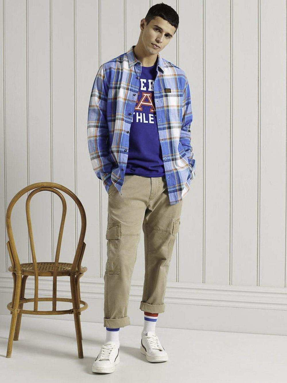 SUPERDRY Μπλούζα t-shirt M1010846A-CNS ΗΛΕΚΤΡΙΚ ΑΝΟΙΧΤΟ