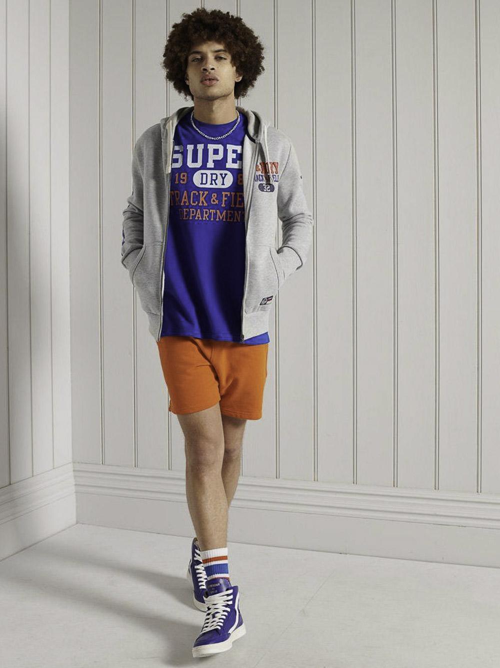 SUPERDRY Mπλούζα t-shirt M6010454A-CNS ΗΛΕΚΤΡΙΚ ΑΝΟΙΧΤΟ