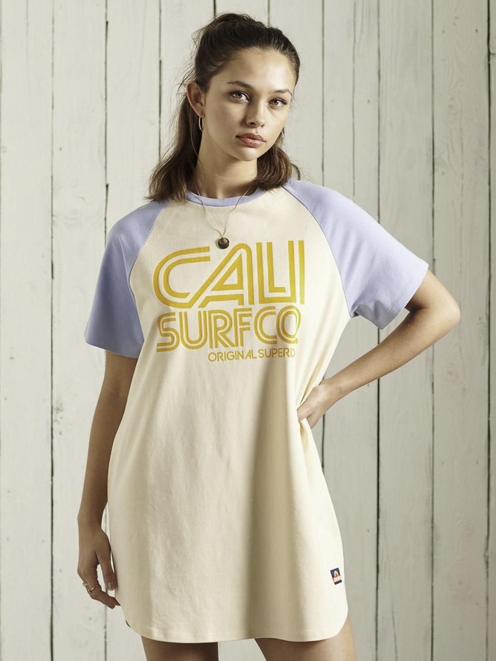 SUPERDRY Φόρεμα midi W8010812A-11L ΚΡΕΜ