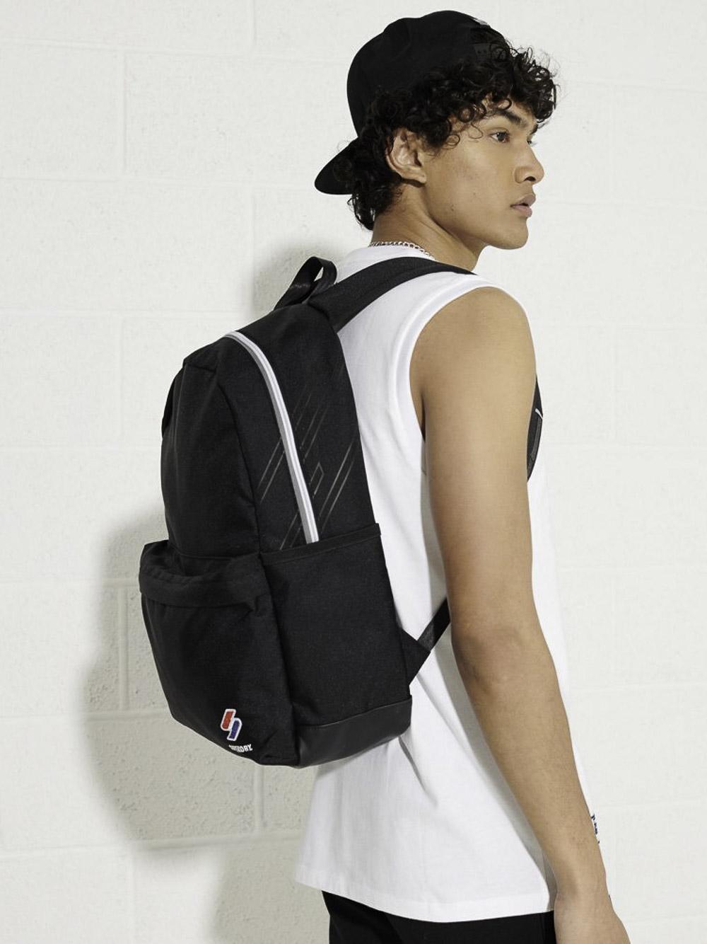 SUPERDRY Τσάντα back pack M9110398A-02A ΜΑΥΡΟ