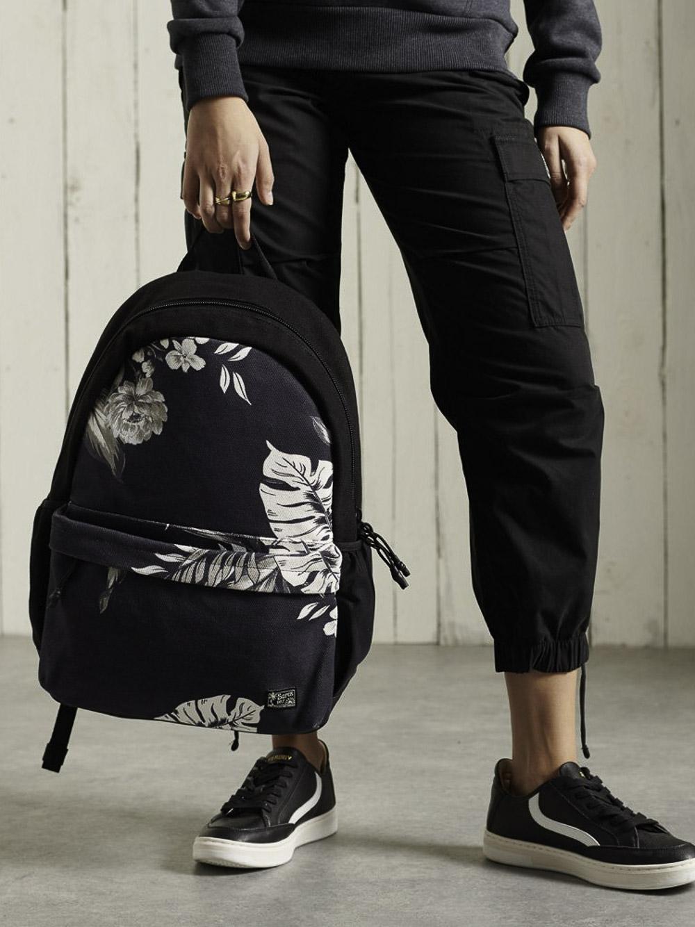 SUPERDRY Tσάντα back pack W9110252A-4HA ΜΑΥΡΟ