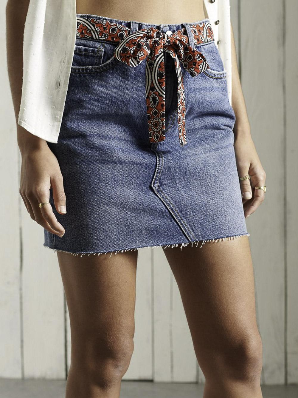 SUPERDRY Φούστα mini W7210135A-5HL DAYLE MID VINTAGE